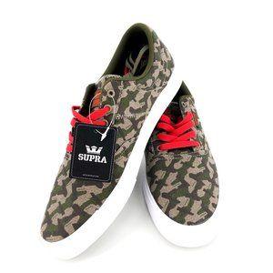 SUPRA Camo Risk Cobalt Shoes NWT